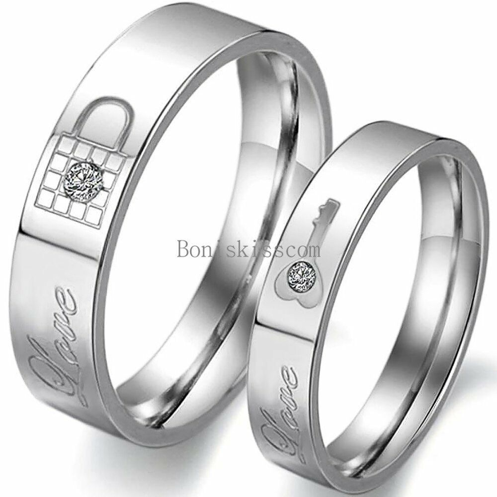 Engraved Couple Rings | eBay