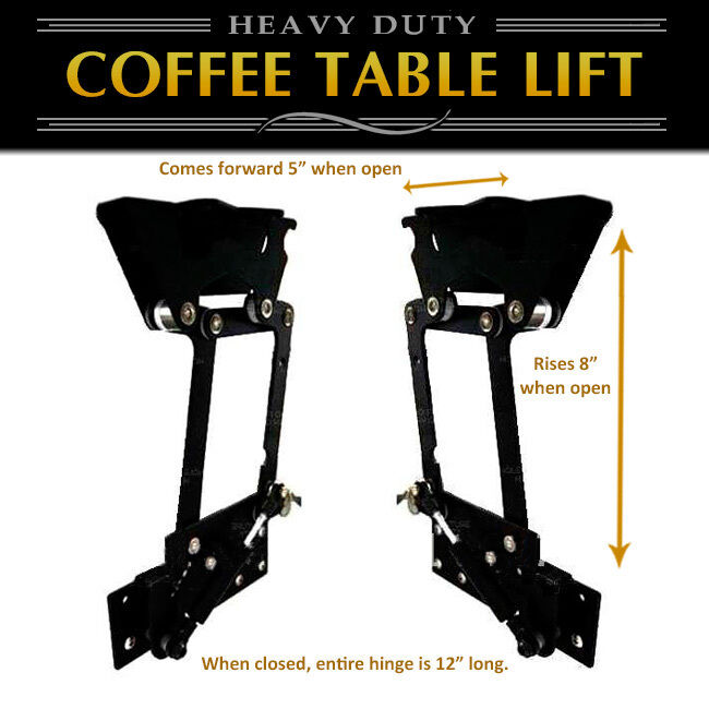 Lift Top Coffee Table Diy Hardware Fitting Furniture Hinge Gas Hydraulic Ebay