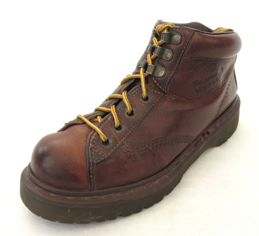 doc dr martens boots 9 us brown leather airwair mens