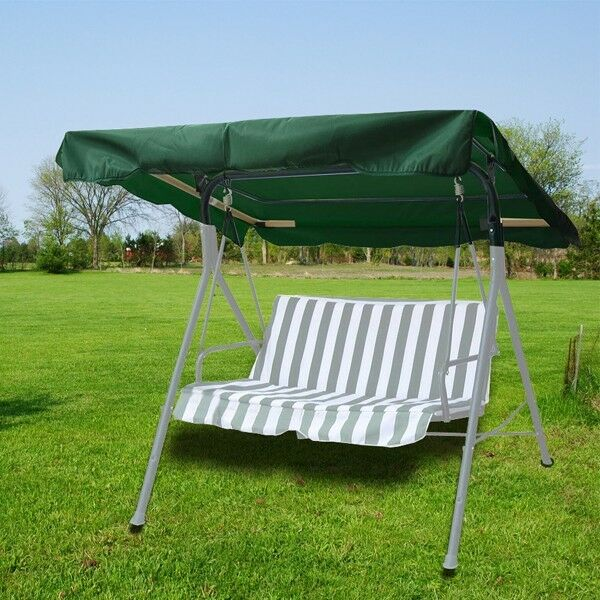 new deluxe outdoor swing canopy replacement porch top cover seat patio green ebay. Black Bedroom Furniture Sets. Home Design Ideas