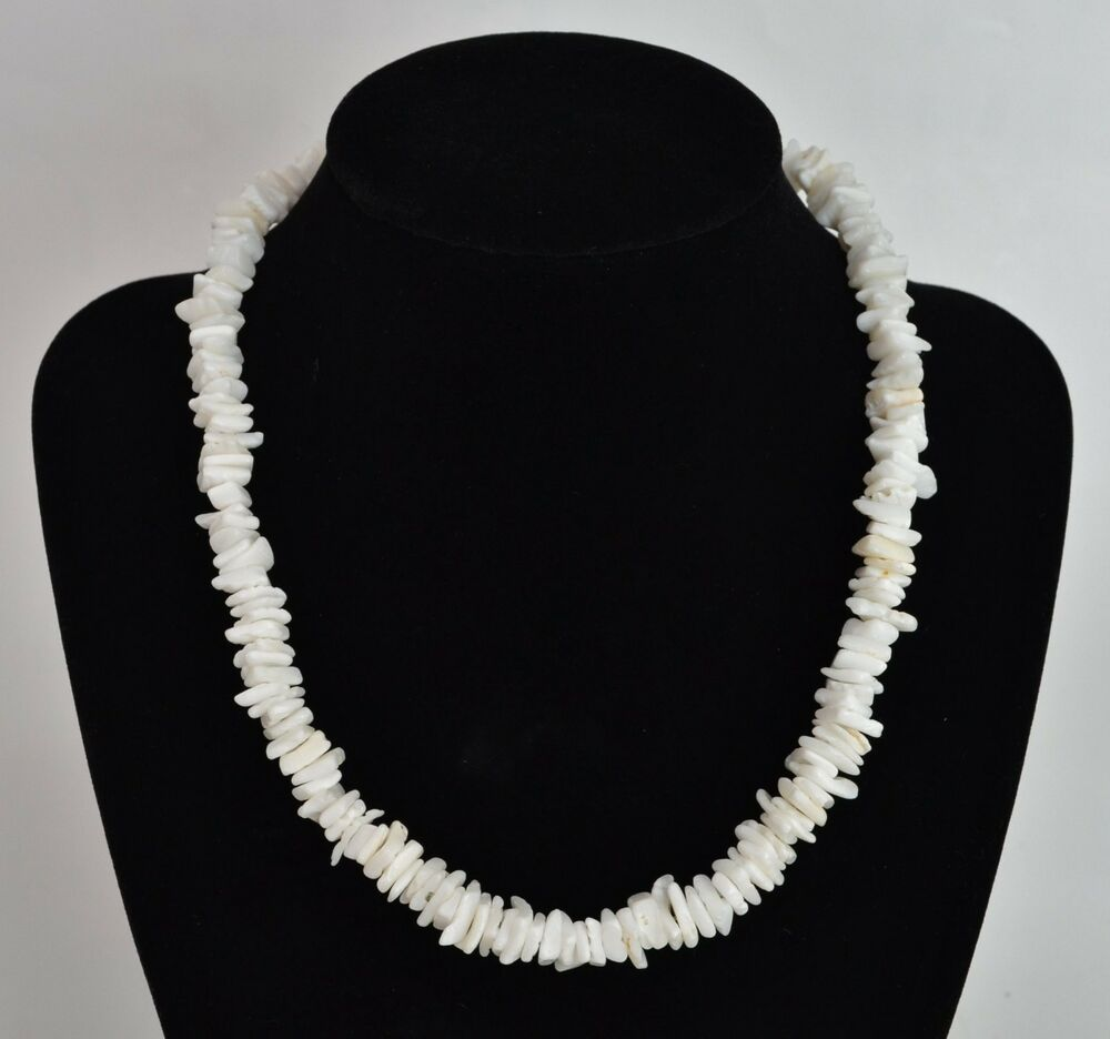 White genuine puka shell necklace