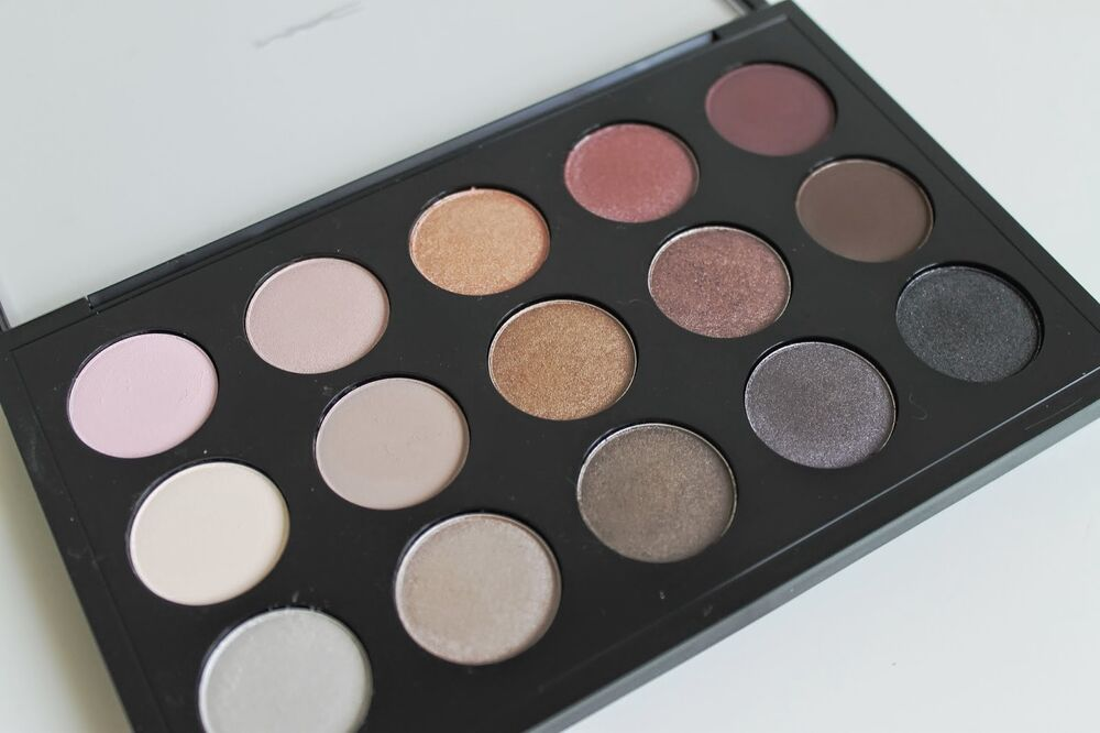 New mac eyeshadow x15 cool neutral palette 100 authentic for Cool neutral color palette