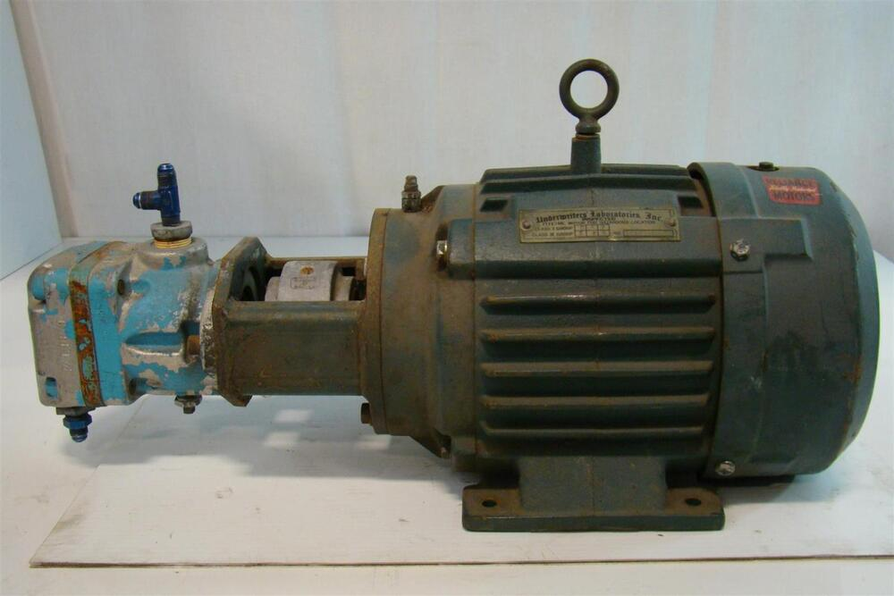 reliance electric motor hydraulic pump b458f5 694y ebay