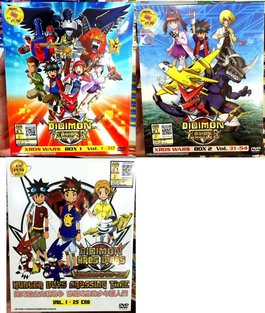 Digimon fusion part 1 2 3 chapter 1 79 end 10 dvd for 1 2 3 fusion