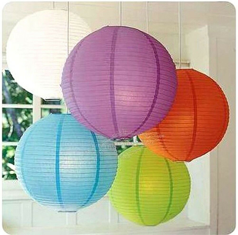 "Paper Lanterns Wedding Decoration Ideas: 10""/25cm Multi-Color Chinese Paper Lantern Lampshade"