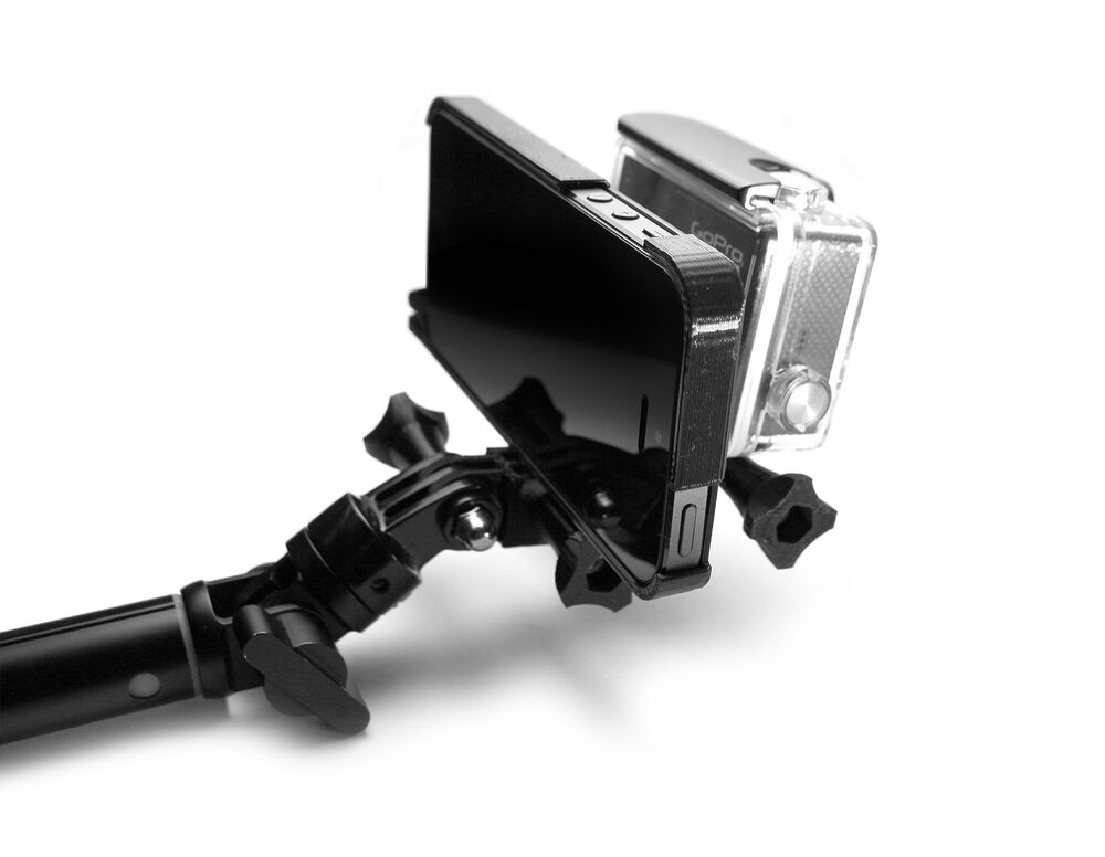 pivot mount f r iphone 5 5s to gopro connector zubeh r go pro pole adapter ebay. Black Bedroom Furniture Sets. Home Design Ideas