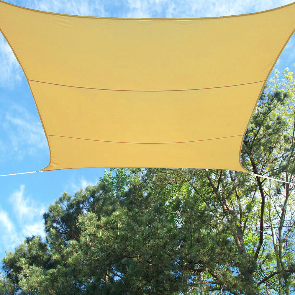 Patio Cover Square Sun Shade Sail Canopy Beige Sand
