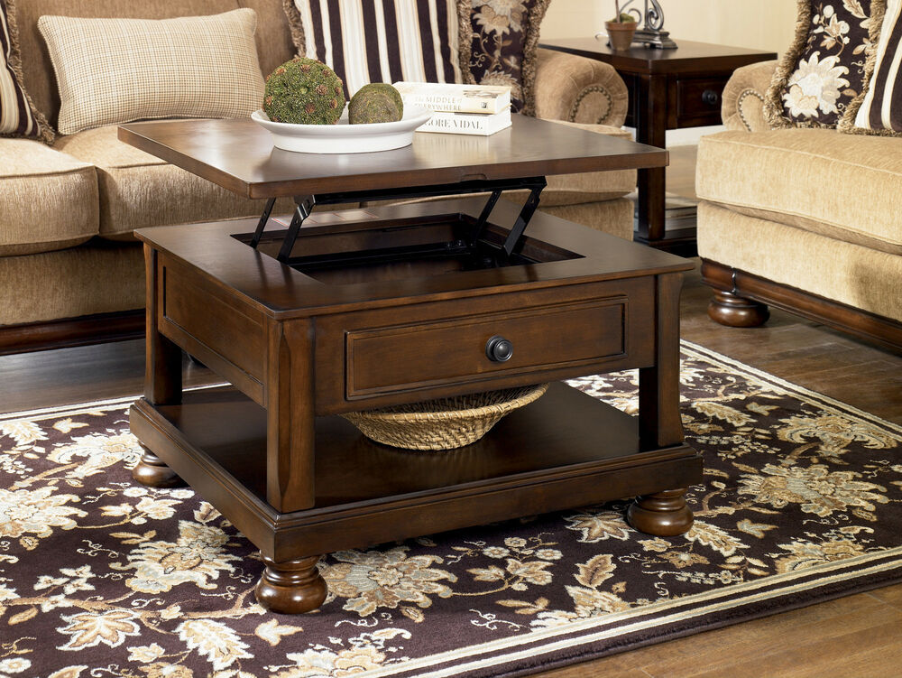Rustic Brown Traditional Lift Top Cocktail Coffee Table Rustic Living Cottage Ebay
