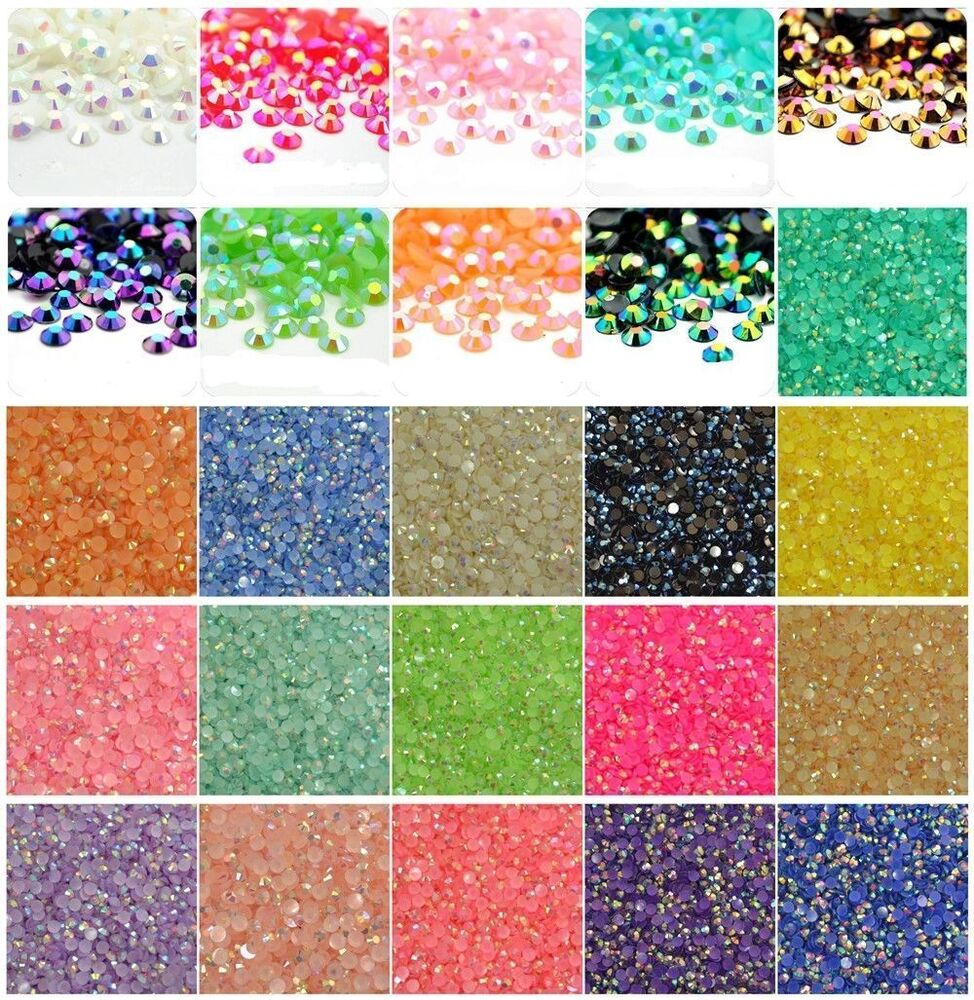 Lot 2000 diamante self adhesive rhinestone craft for Rhinestone jewels for crafts