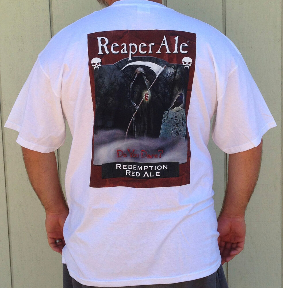 New reaper ale brewing company redemption red ale tee for The red t shirt company