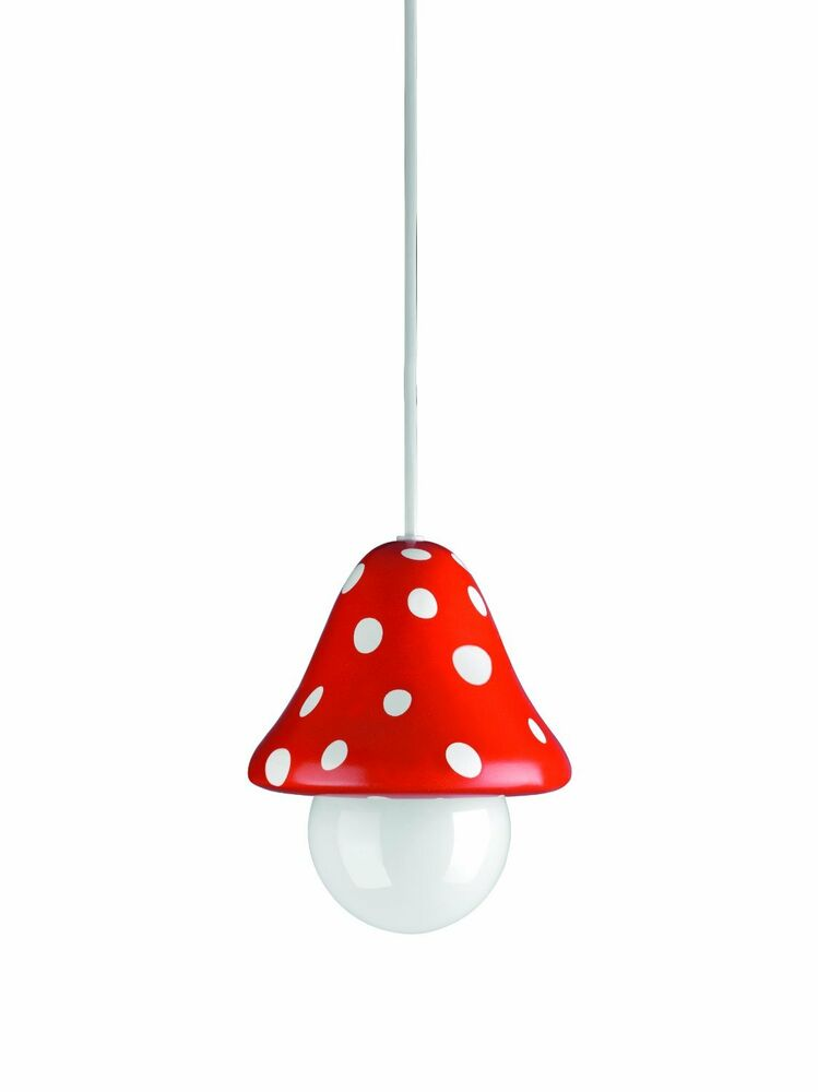 childrens ceiling light toadstool pendant for