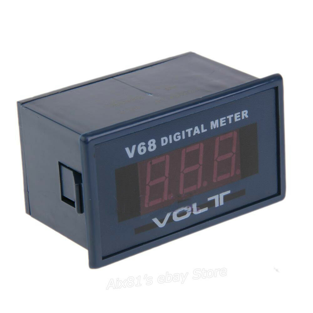 Ac Panel Meters : Quot red led digital voltmeter voltage panel meter ac