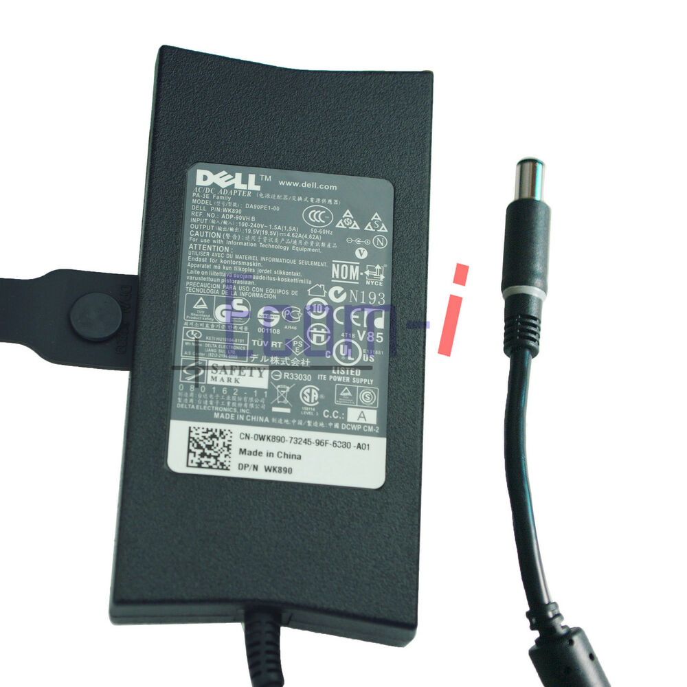new 90w slim genuine oem pa 3e ac adapter charger for dell. Black Bedroom Furniture Sets. Home Design Ideas
