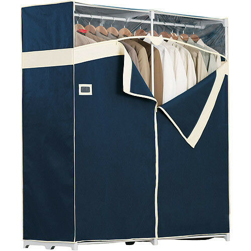 Portable closet garment storage wardrobe organizer clothes for Extra closet storage