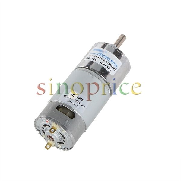 12v dc 100 rpm high torque gear box electric motor for for High torque high speed dc motor