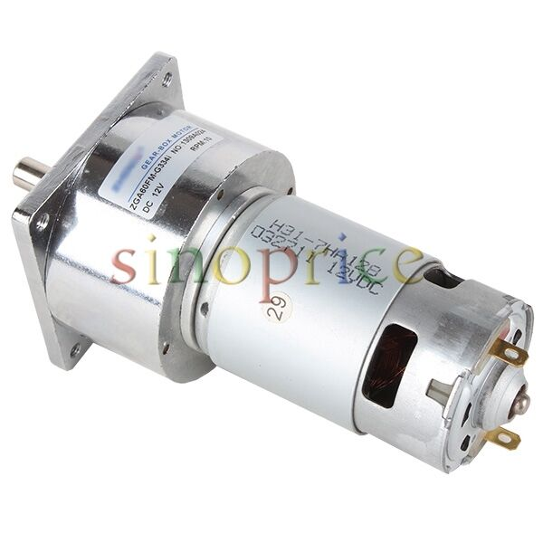 12v Dc 10 Rpm High Torque Gear Box Electric Motor 3500r