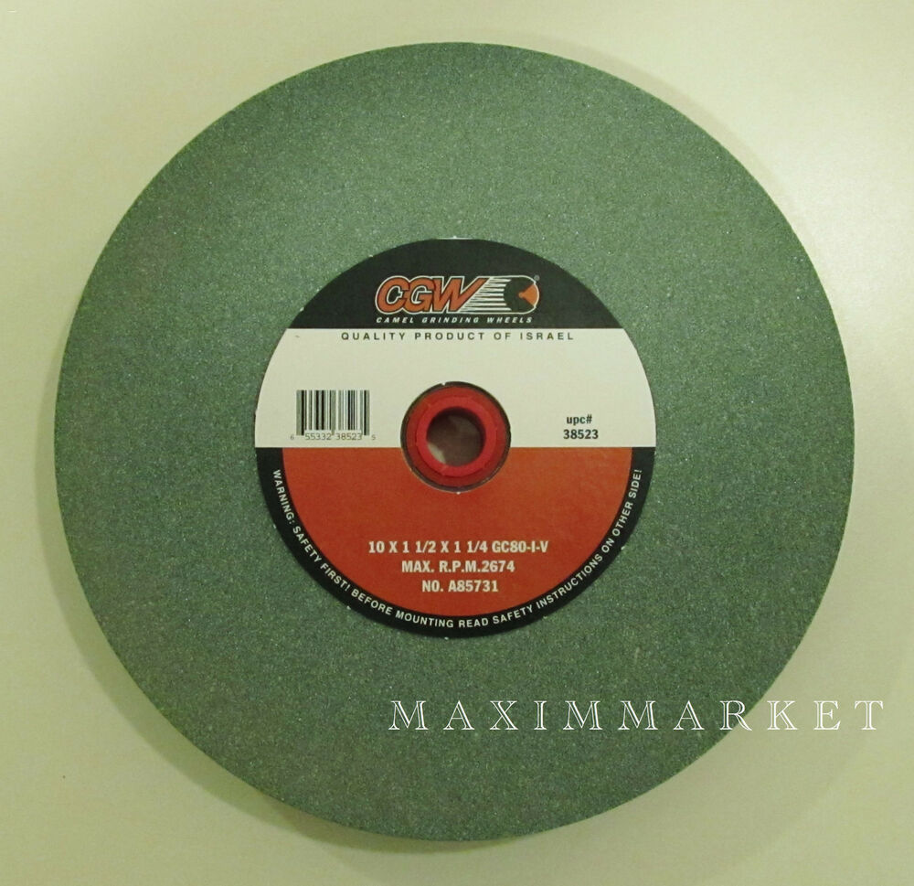 10 Quot X1 1 2 Quot X1 1 4 Quot Green Silicon Carbide Grinding Wheel Ebay