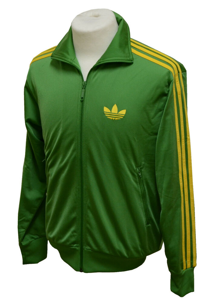 adidas firebird tt tracktop jacke jackets veste gr n gelb herrenjacke men ebay. Black Bedroom Furniture Sets. Home Design Ideas
