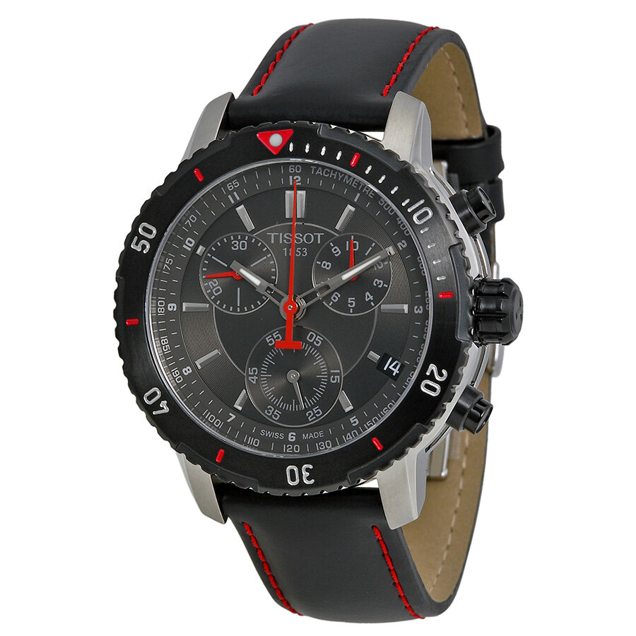 tissot prs 200 chronograph black mens