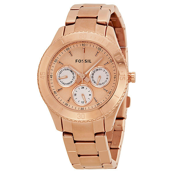 fossil stella chronograph multifunction rose gold plated ladies watch es2859 691464708061 ebay. Black Bedroom Furniture Sets. Home Design Ideas