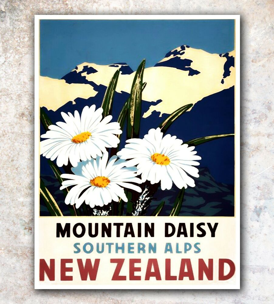 New Zealand Art Travel Poster Wall Decor Print 12x16 A503 Ebay