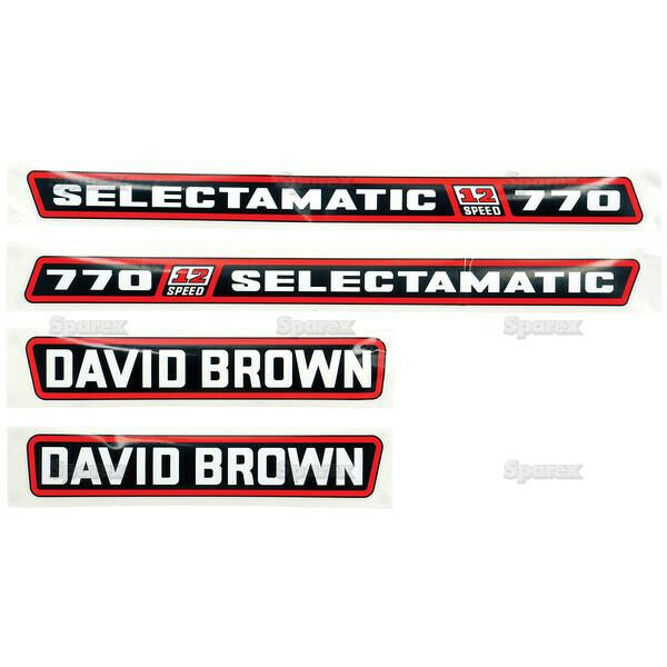 Case Cx90 Tractor Decal Sets : New david brown selectamatic hood decal set ebay