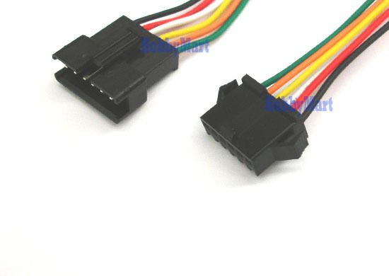 2.5mm SM 6-Pin Male Female Connector plug with Wire x 10 ...