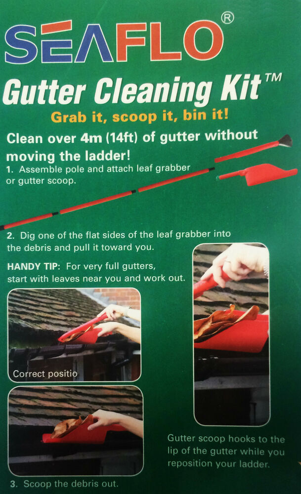 Gutter Cleaning Kit To Remove Leaves And Debris From Your