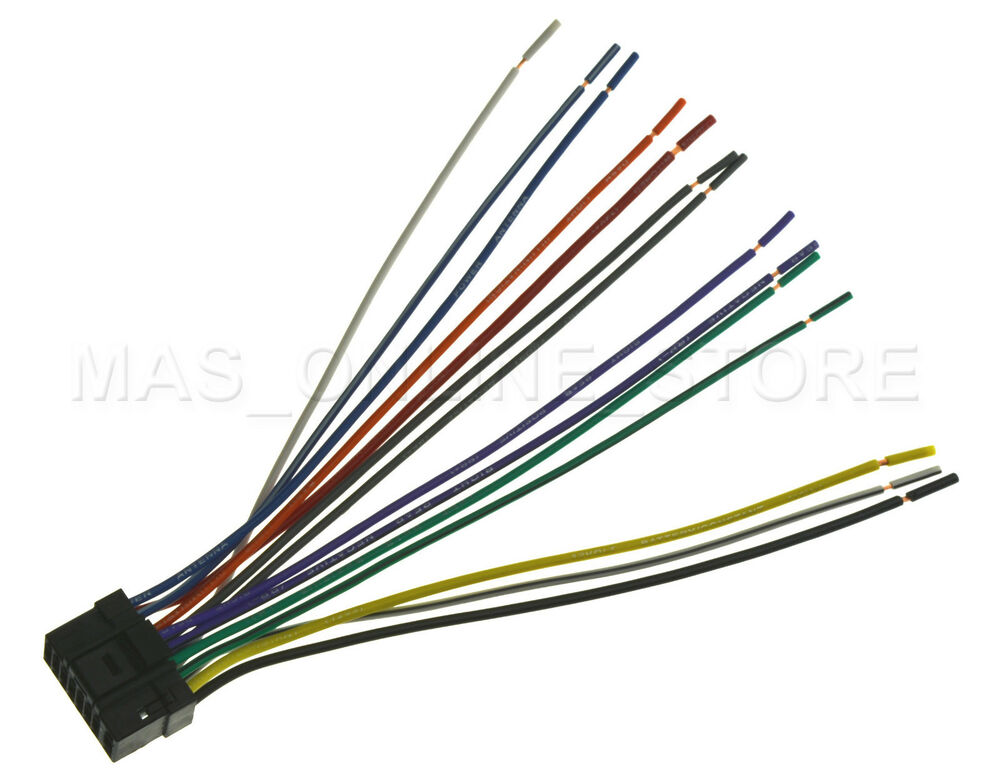 wire harness for alpine cde sxm145bt cdesxm145bt pay today ships today ebay