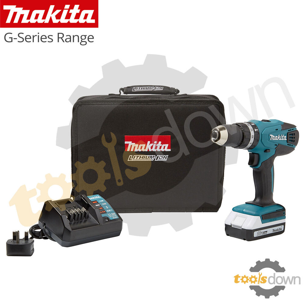 Makita 18v li ion cordless hammer combi drill 1 x battery charger case 620977717802 ebay - Batterie makita 18v ...
