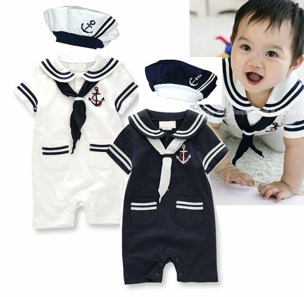 Baby Boy Girl Sailor Carnival Fancy Dress Costume Outfit