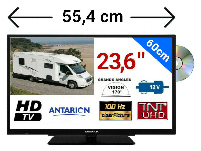 combin televiseur tnthd lecteur dvd led 24 60cm hd usb camping car 12v ebay. Black Bedroom Furniture Sets. Home Design Ideas