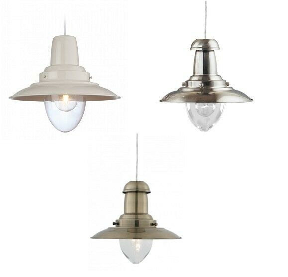 Modern Fisherman Ceiling Pendant Drop Light Fitting In