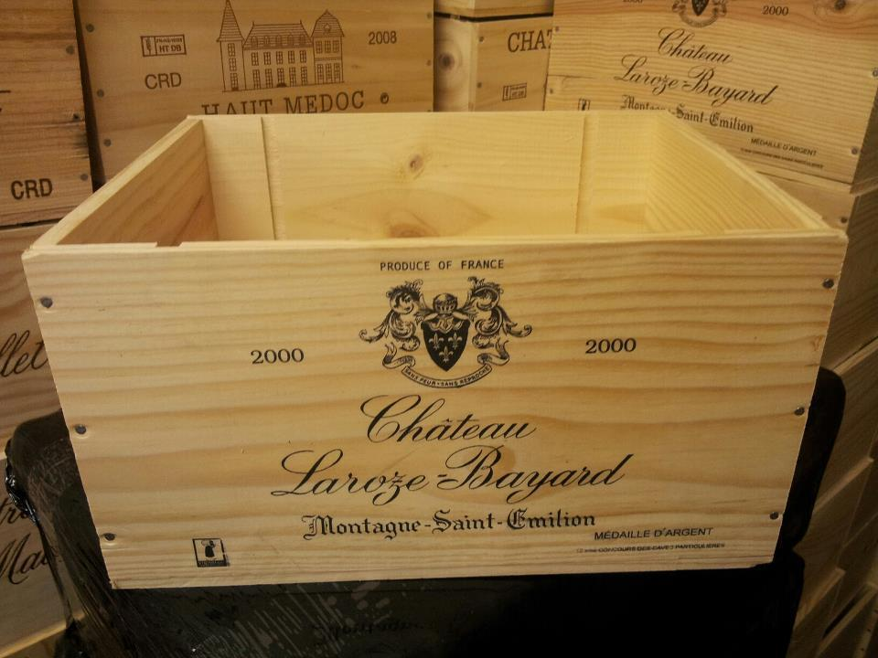 French crested 6 bottle wooden wine crate box christmas What to do with wine crates