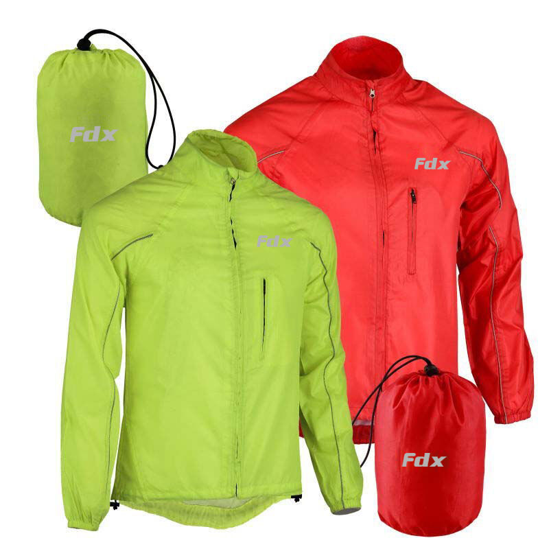 FDX Mens Waterproof Cycling Jacket Breathable Lightweight High