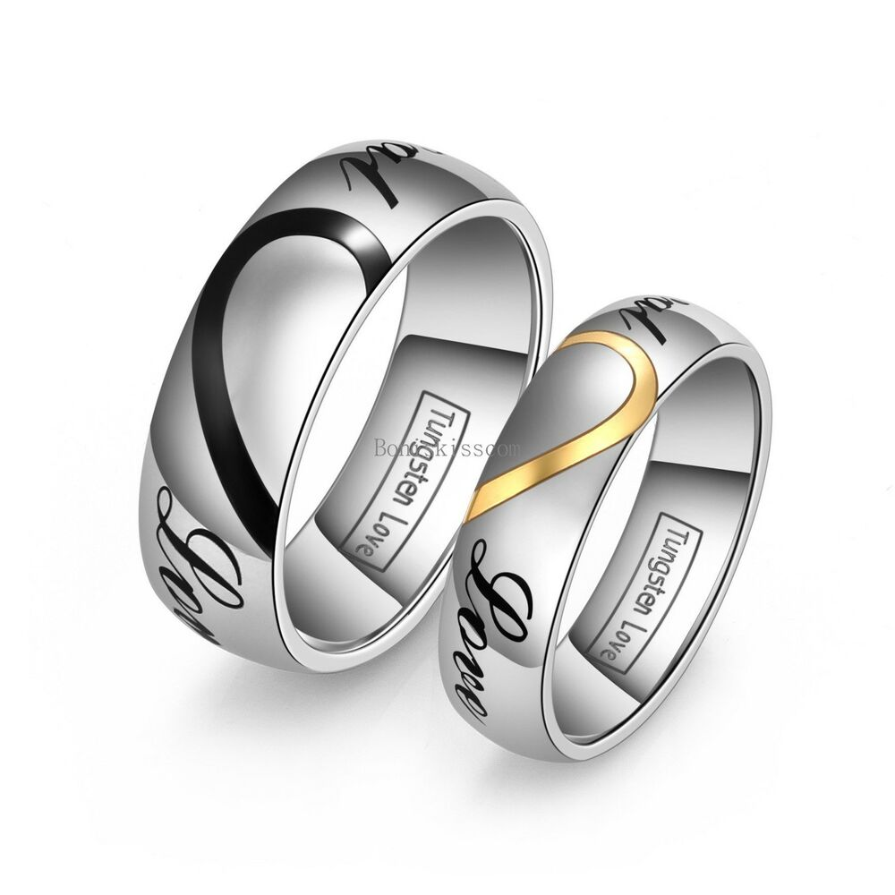Heart Shape Tungsten Carbide Promise Ring Quot Real Love