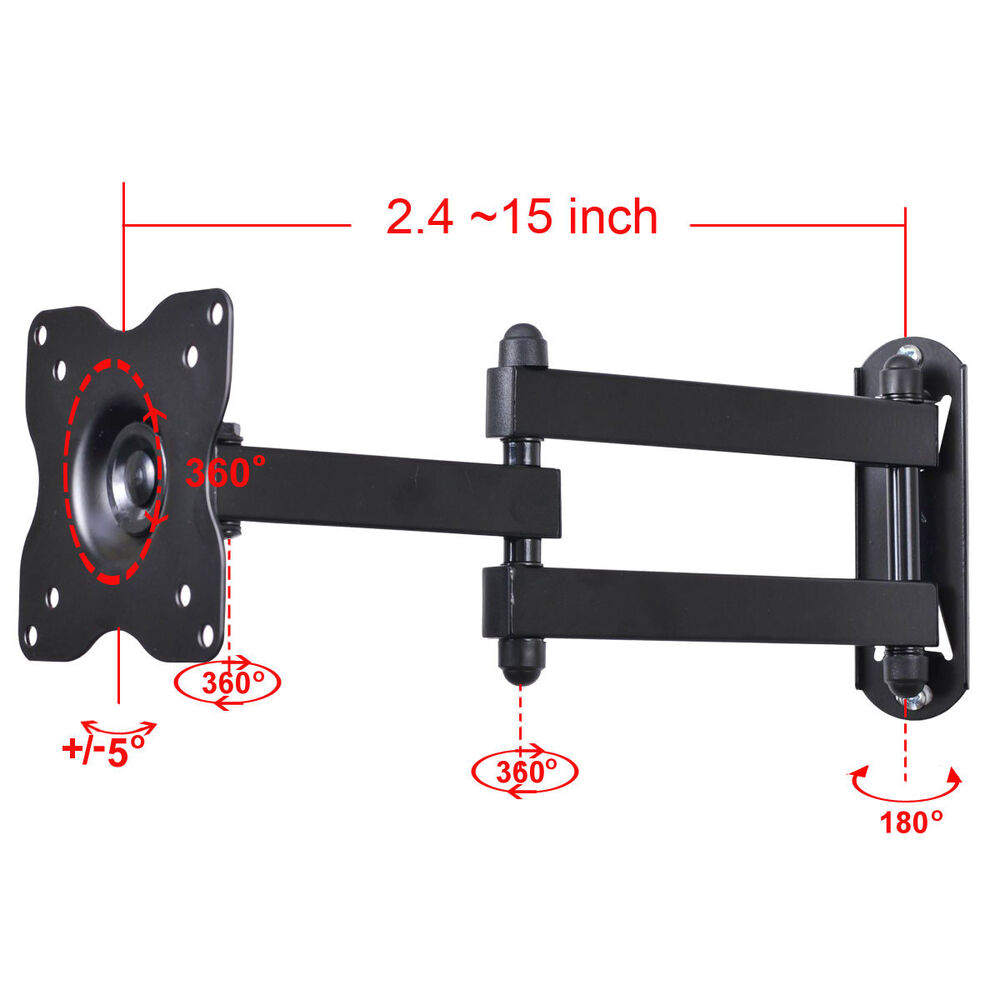 Articulating Tv Monitor Wall Mount Bracket For Dell Lg 19