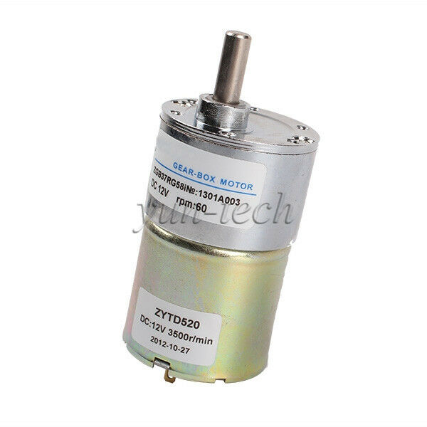 new 12v dc 60 rpm high torque gear box speed control
