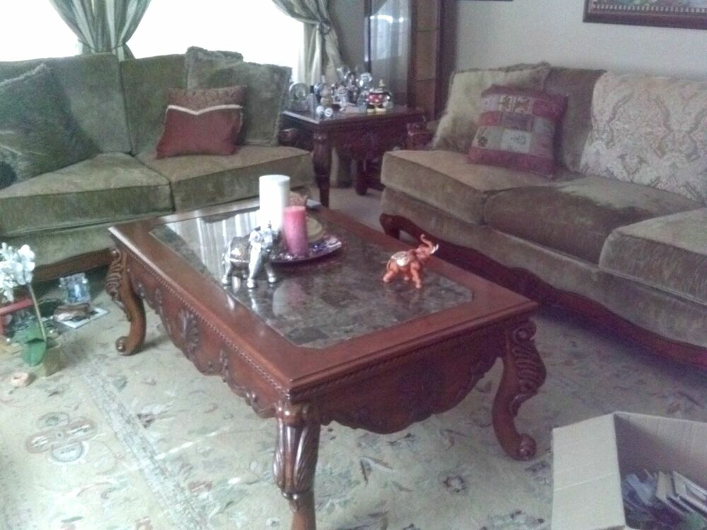 piece wood living room set ebay