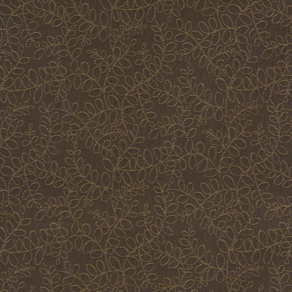 k0107b tan brown floral vines woven indoor outdoor upholstery fabric by the yard ebay. Black Bedroom Furniture Sets. Home Design Ideas