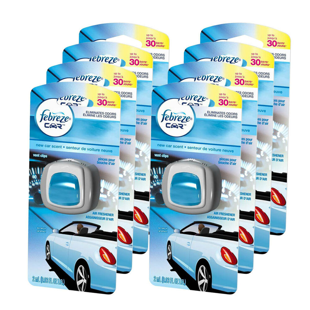 Febreze Car Vent Clips Air Freshener Odor Eliminator New: Febreze Car Vent Clips Air Freshener & Odor Eliminator New