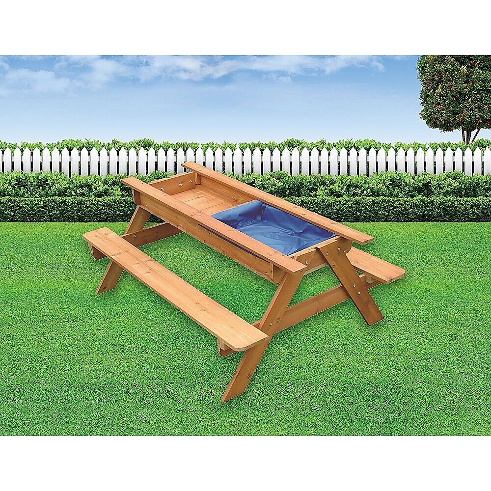 Sand Amp Water Picnic Table Kids Playhouse Outdoor Play Toy