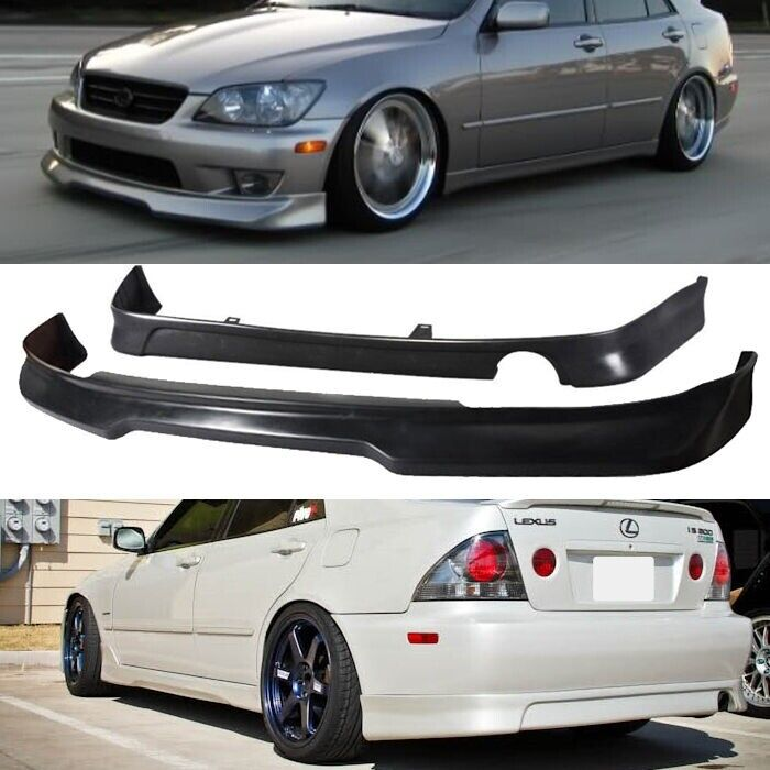 01-05 IS300 GDY ADD ON URETHANE FRONT REAR BUMPER LIP