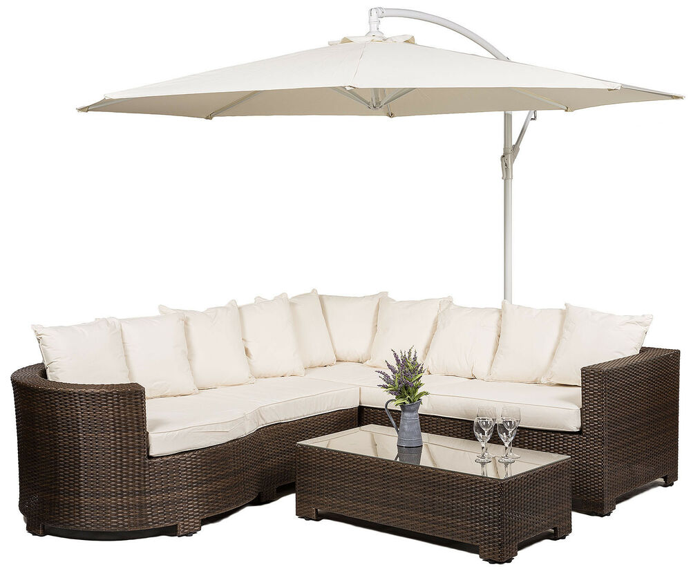 Marbella Rattan Corner Sofa Set Outdoor Garden Furniture With Coffee Table Ebay