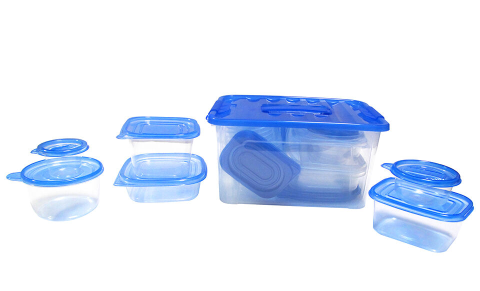 54 Pcs Reusable Plastic Food Storage Containers Set With