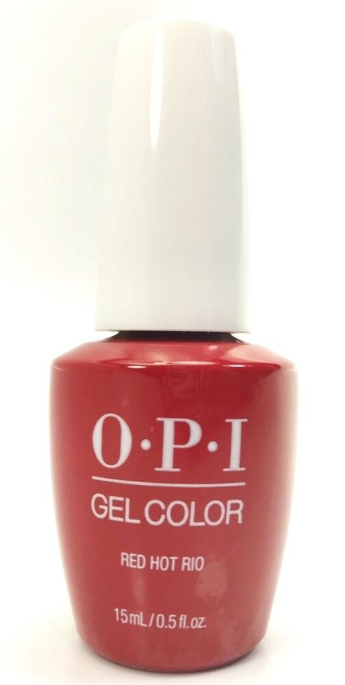 opi gelcolor gel nail polish red hot rio gc a70   15ml   0