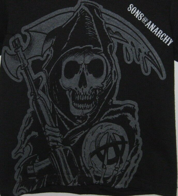sons of anarchy reaper logo toddler t shirt officially. Black Bedroom Furniture Sets. Home Design Ideas