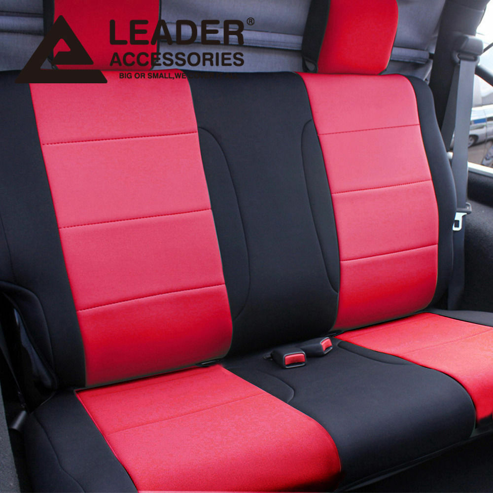 Jeep Seat Covers >> Car Seat Cover Rear Solid Bench Fit 2011-2014 Jeep Wrangler 2Dr Red Black | eBay