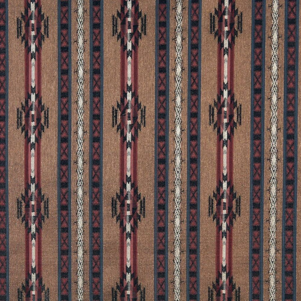 F381 striped southwestern navajo lodge style upholstery for Upholstery fabric by the yard