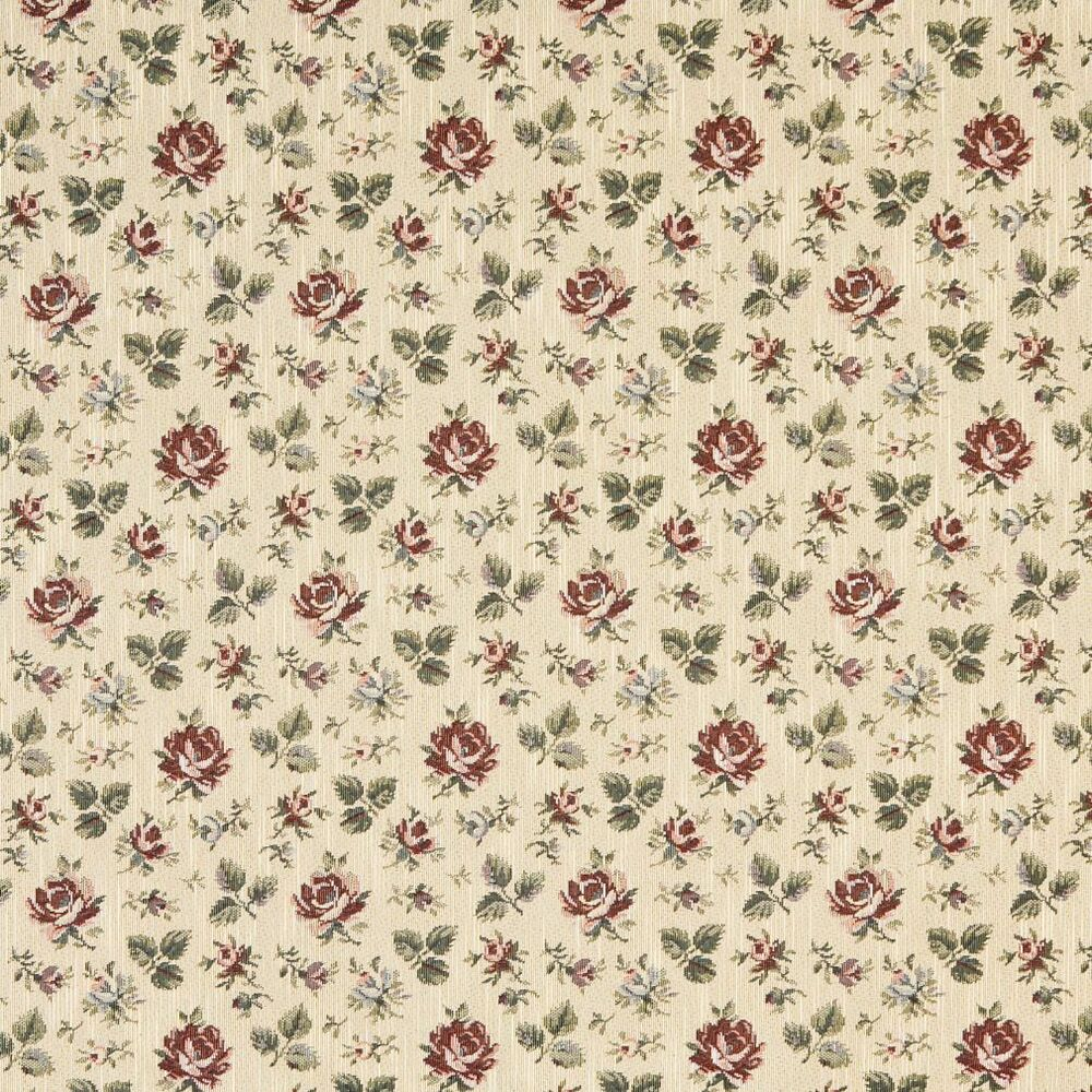 F909 gold burgundy and green floral tapestry upholstery for Floral upholstery fabric